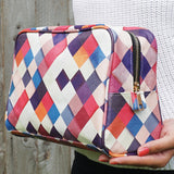 Pass it On II - Multicoloured unique women's wash bag