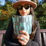 createandcase Stained Glass - green iPhone 7 plus leather wallet case, vegan leather, unique gifts