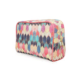 Stained Glass Multi - Large Pastel Coloured Vegan Wash Bag