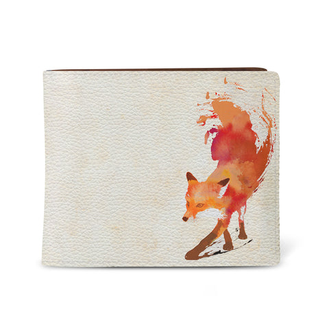 Vulpes - Mens Wallet with Red Fox Artwork