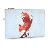 Vulpes - Red fox vegan clutch bag with wristlet from HETTY+SAM