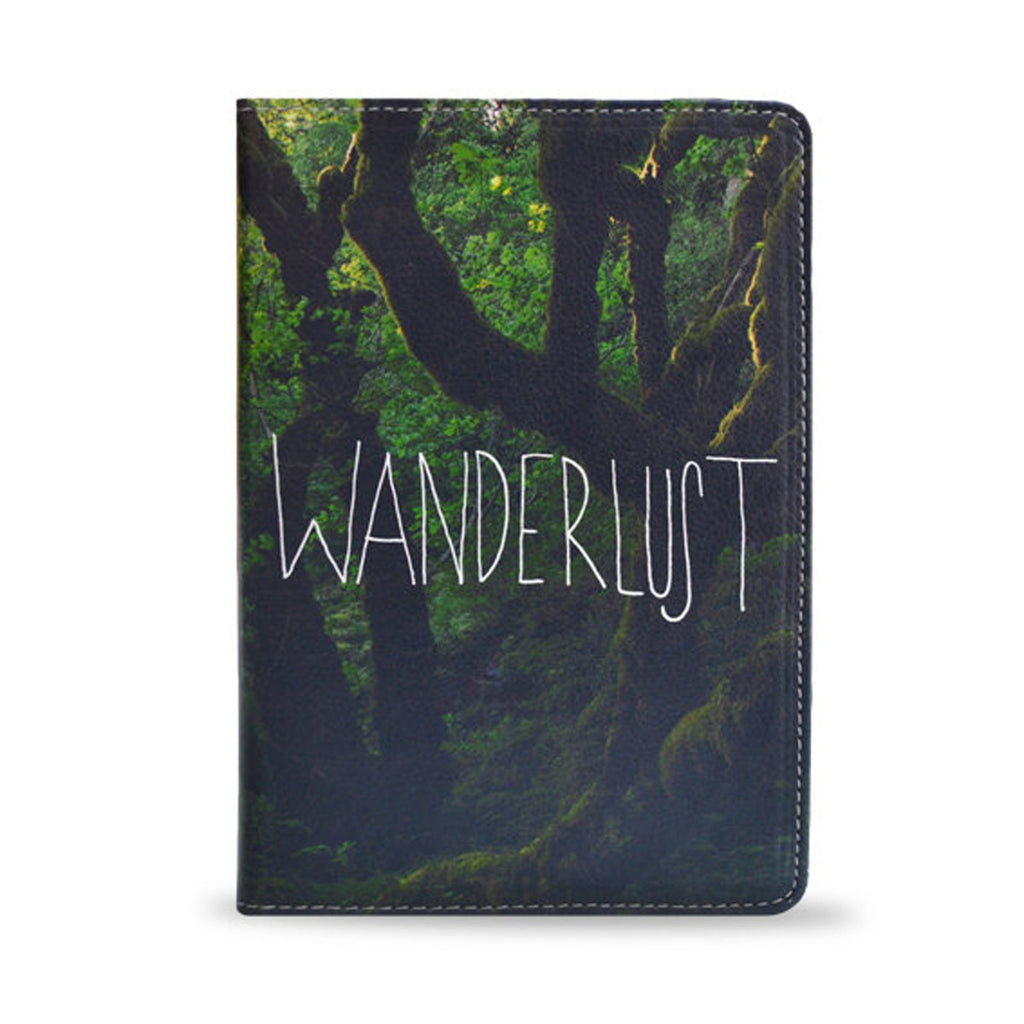 Wanderlust, photography, nature, trees, vegan leather iPad Air case cover, createandcase