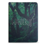 Wanderlust, photography, nature, trees, vegan leather iPad pro 9.7 case cover, createandcase
