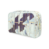 Blue Winter Gold - White Blue Marble Luxury Womens Wash Bag from HETTY+SAM
