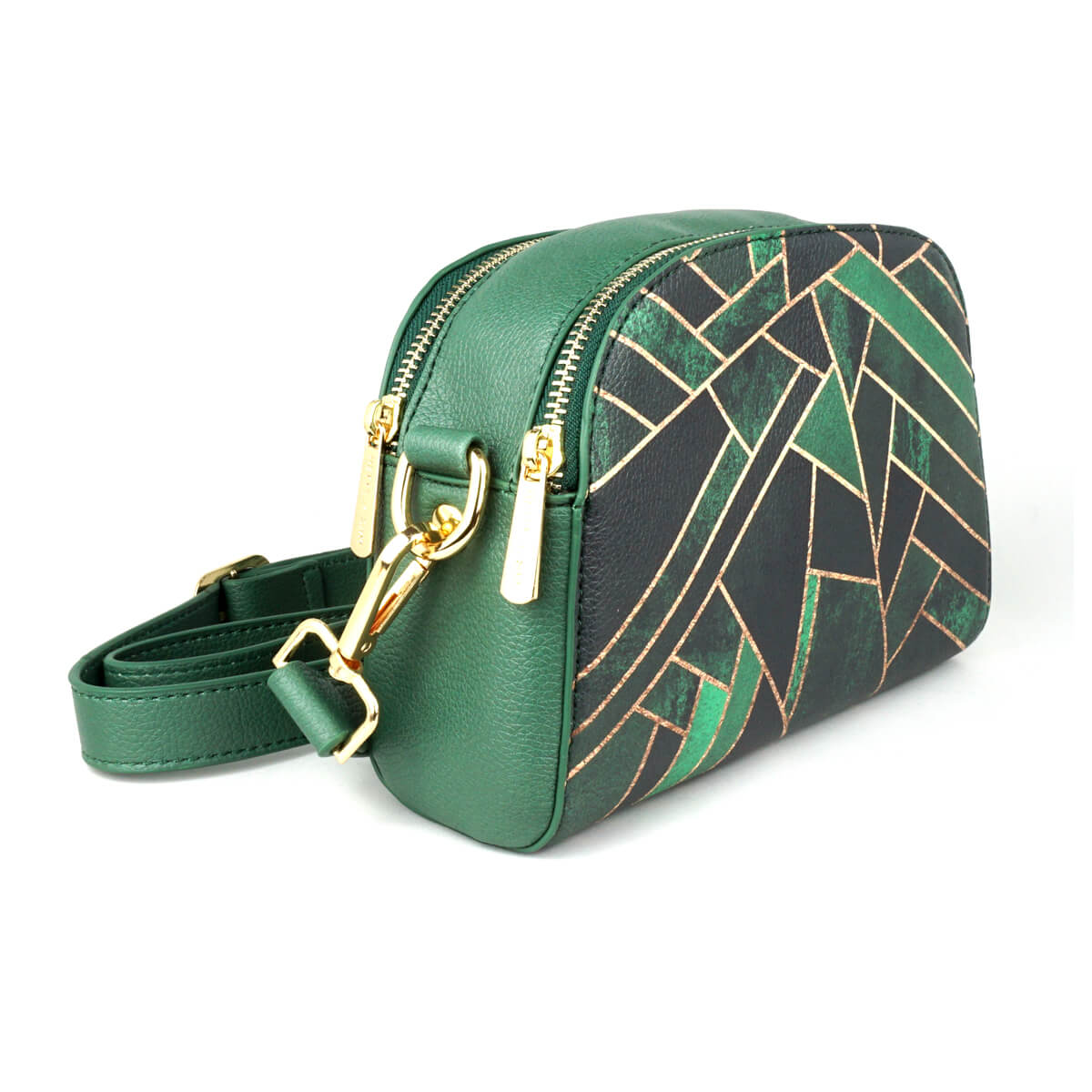 Emerald Night - Womens Luxury Vegan Cross Body Shoulder Bag in Black ... 0232038de73a6