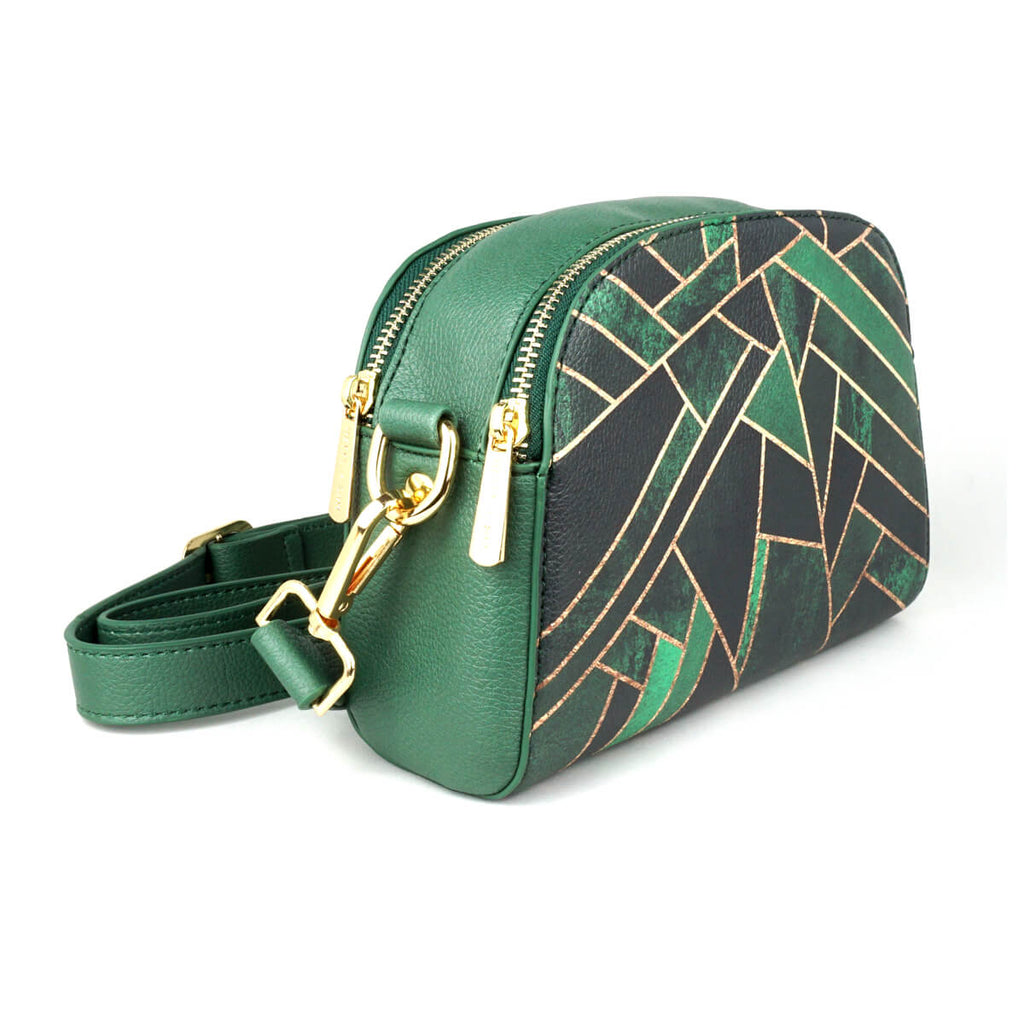 Emerald Night - Green & Black Vegan Cross Body Bag from HETTY+SAM
