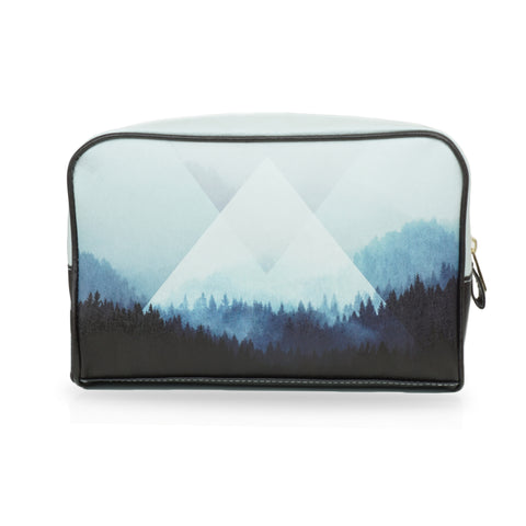 Woods 5Z - Large Black White Wash Bag with naturalistic artwork