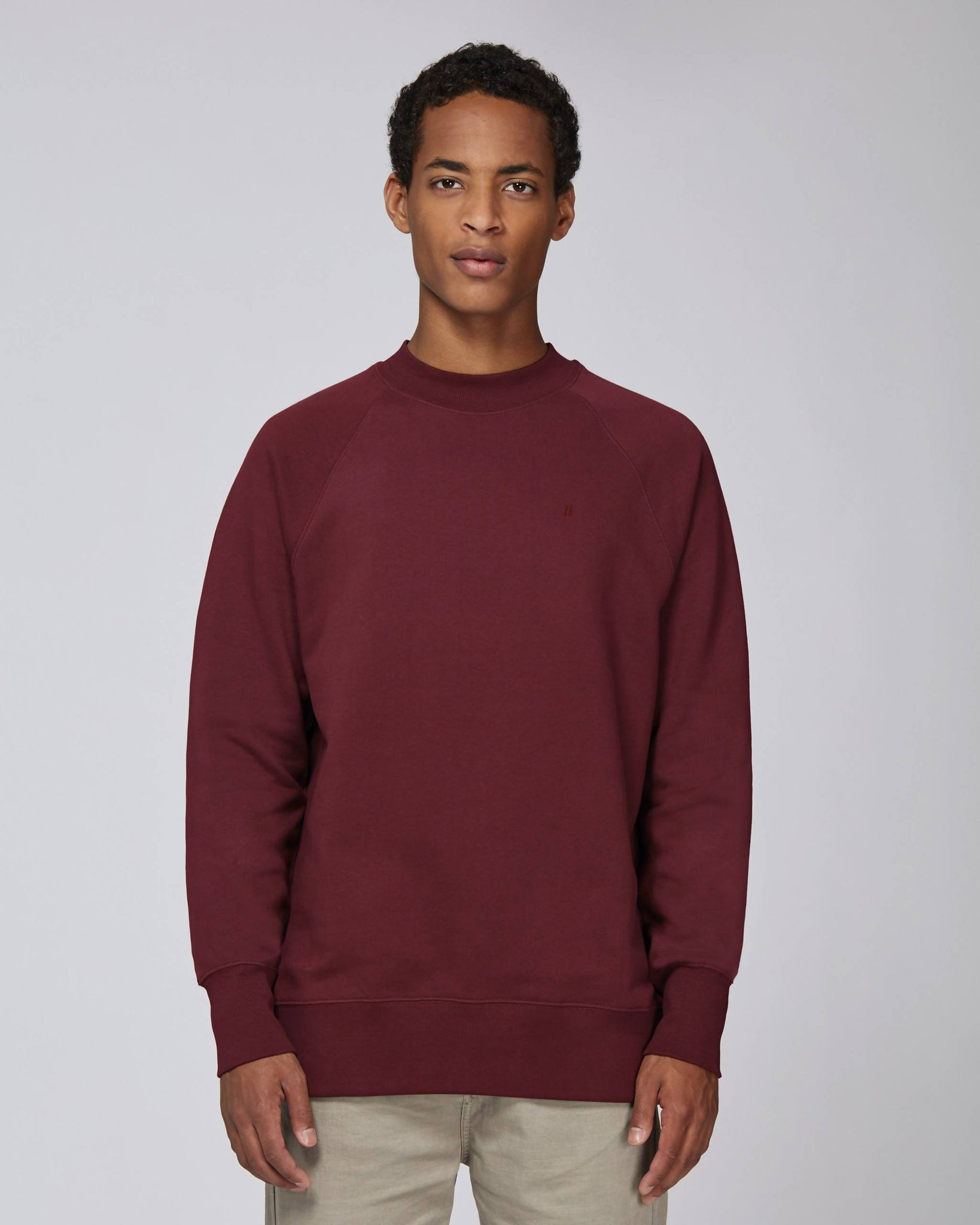 Sweat-shirt col montant bordeaux