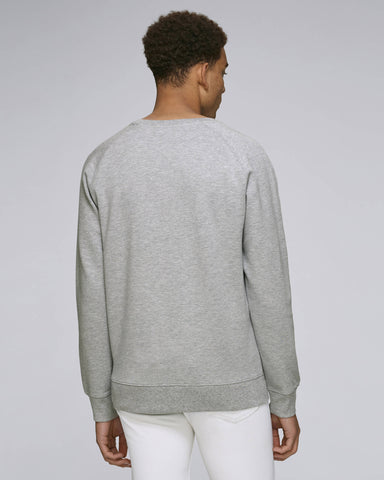 Sweat-shirt en coton piqué gris