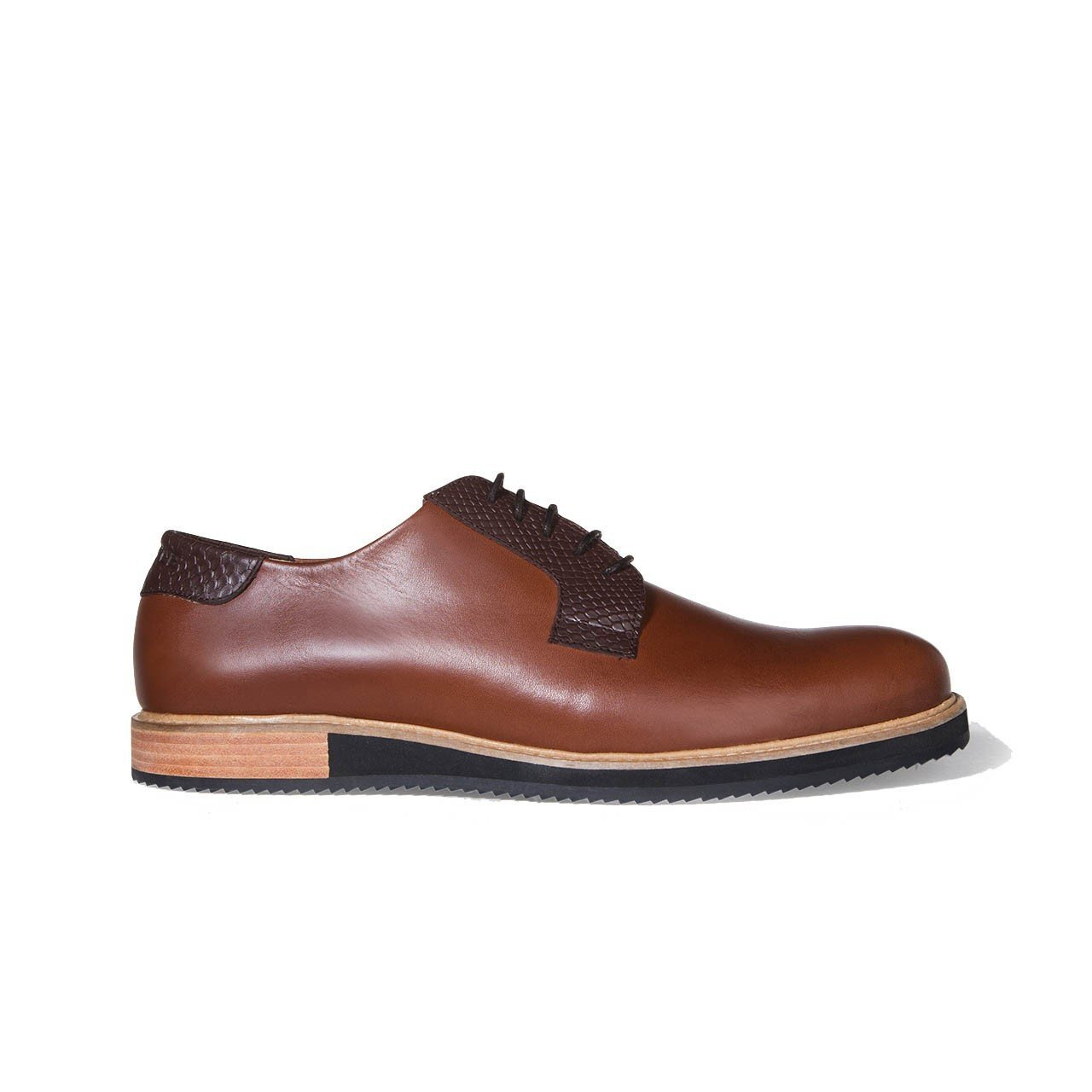 Chaussure Derby Alpha Low camel - Subtle Shoes