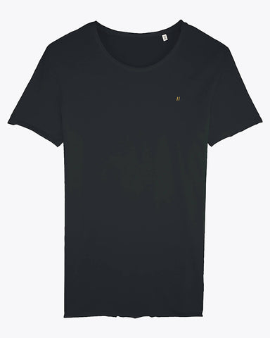 T-shirt bords bruts noir