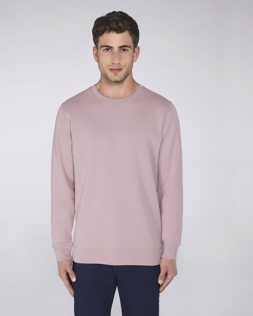 Sweat-shirt col rond lilas - Soliroca