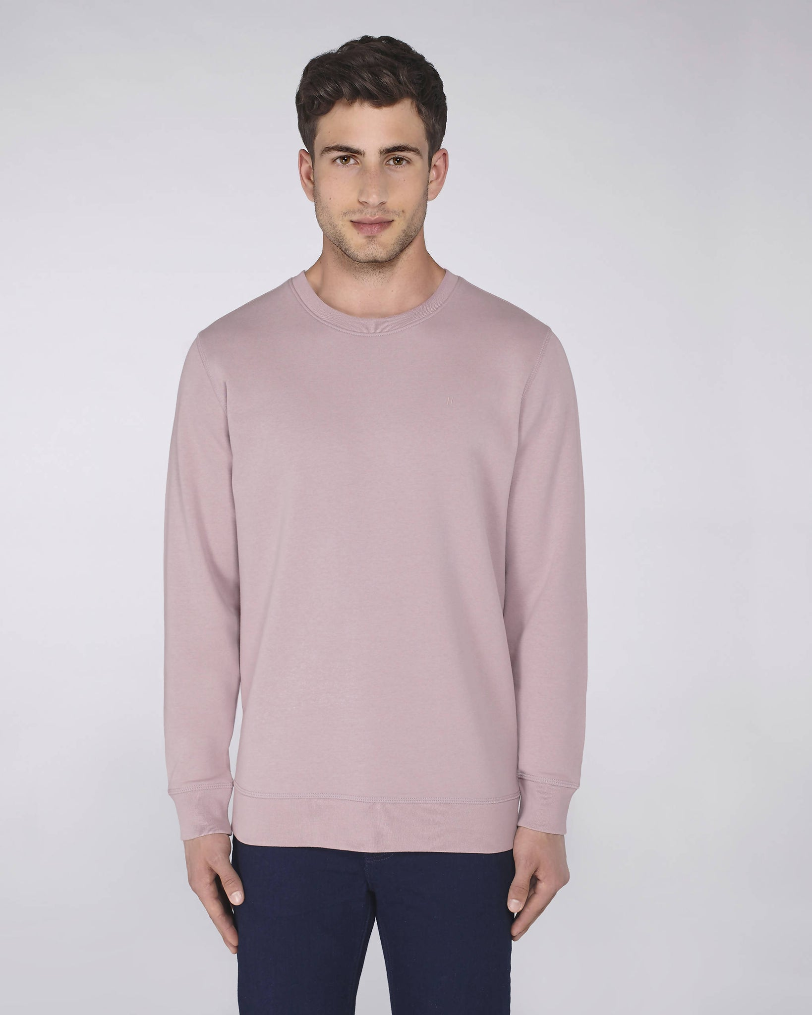 Sweat-shirt col rond lilas