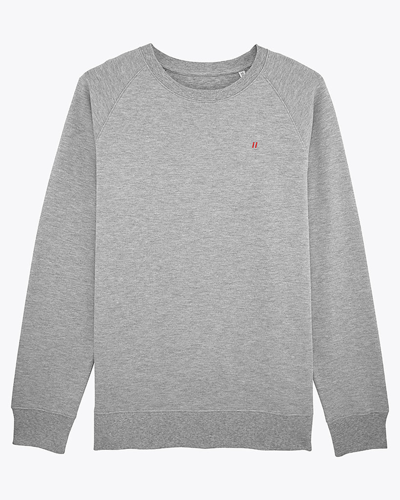Sweat-shirt en coton piqué gris - Soliroca