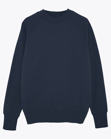 Sweat-shirt col montant bleu marine