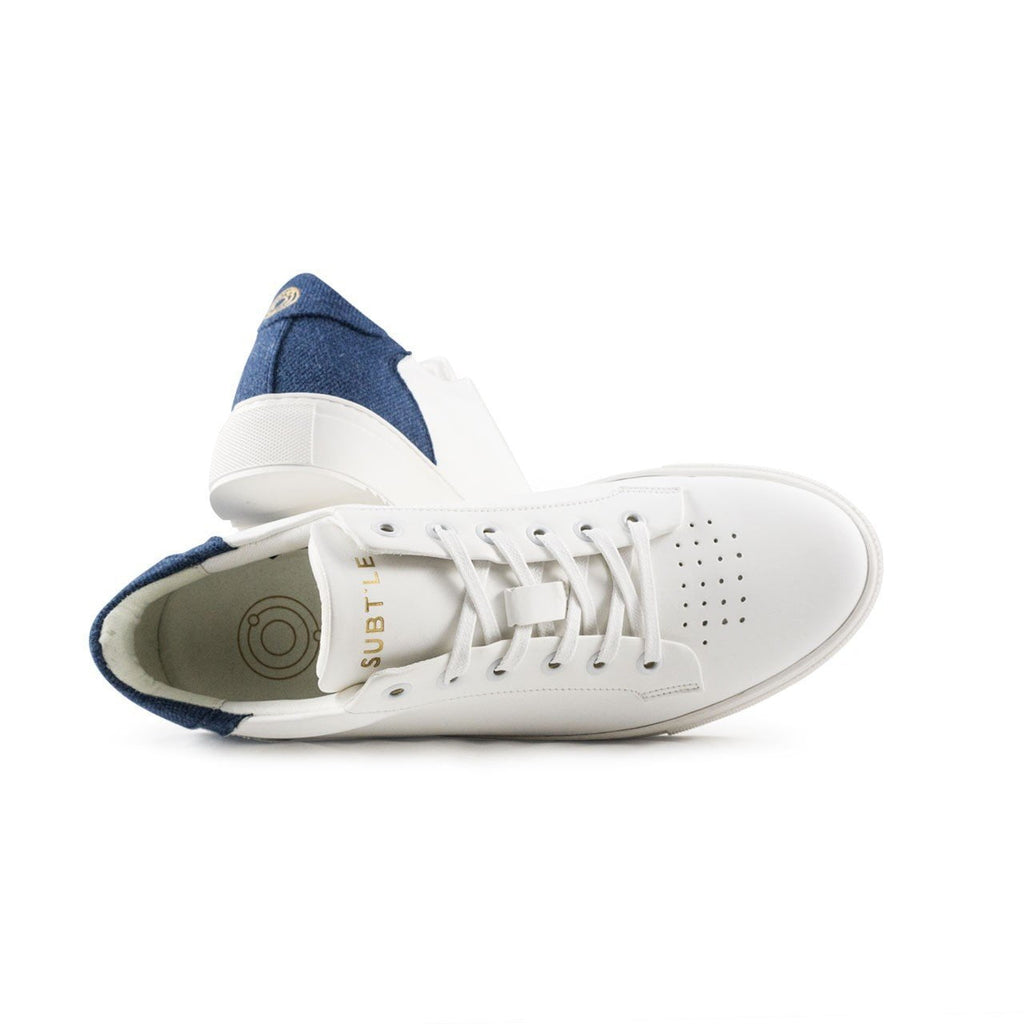 Sneakers blanches et bleues vegan