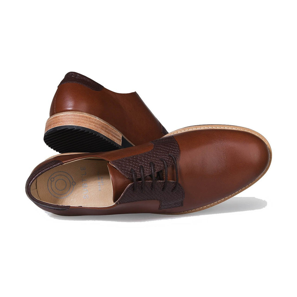 Chaussure Derby Alpha Low camel - Subtle Shoes - Soliroca