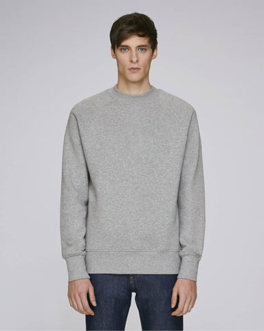 Sweat-shirt col montant gris