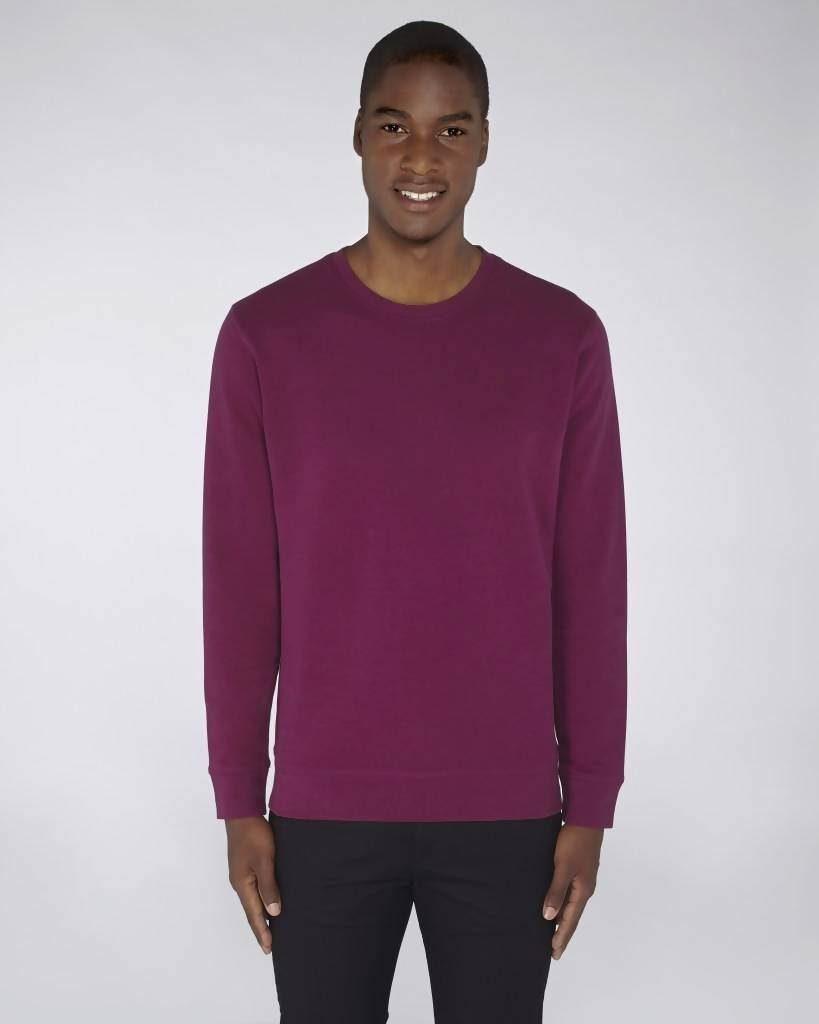 Sweat-shirt col rond violet - Soliroca