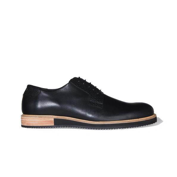 Chaussure Derby Alpha Low Noir - Subtle Shoes