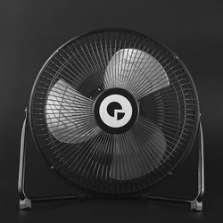 Large Full Black Metal Large USB Rechargeable Desk Fan