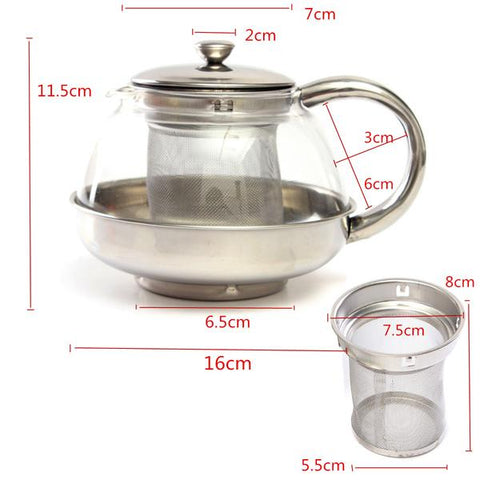 Modern Glass Infuser Teapot, Teapot, TME Online | TME Online