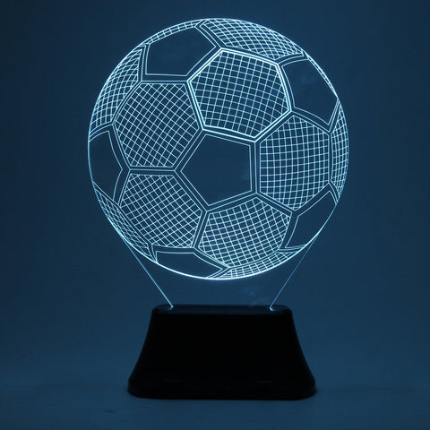 3D Color Changing Football Soccer Night Lamp, Ball Night Lamp, TME Online | TME Online