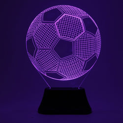 3D Color Changing Football Soccer Night Lamp