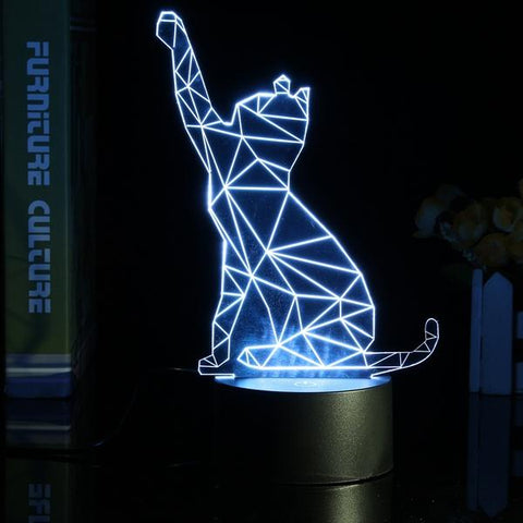 3D Color Changing Cat Night Lamp, Cat Lamp, TME Online | TME Online