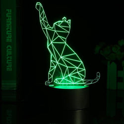 3D Color Changing Cat Night Lamp