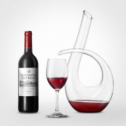 Glass Wine Decanter Aerator Pourer