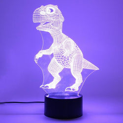 3D Color Changing Dinosaur Night Lamp