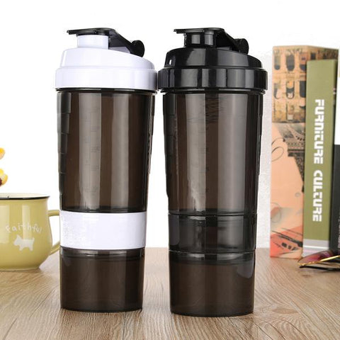 2 Storage Compartment Pill Bottle Mixer, Water Bottle, TME Online | TME Online