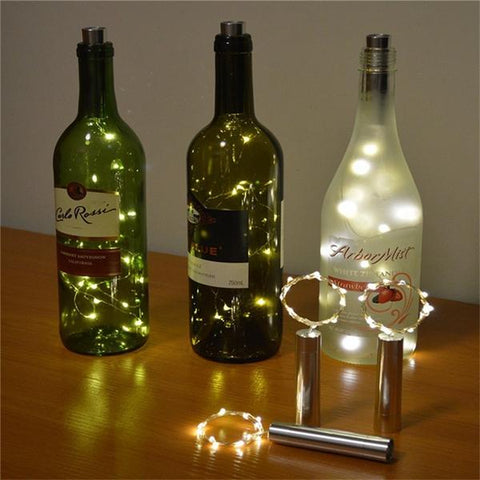 15 LED Wine Bottle String Lights For Party Decor, String Light, TME Online | TME Online