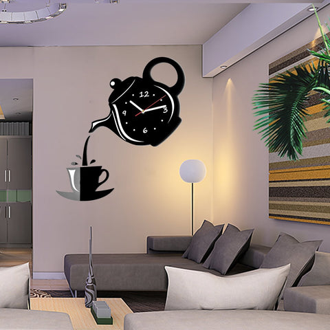 Modern Teapot And Cup Wall Clock, Ceiling Light, TME Online | TME Online