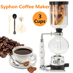 Glass Siphon Coffee Machine Brewer