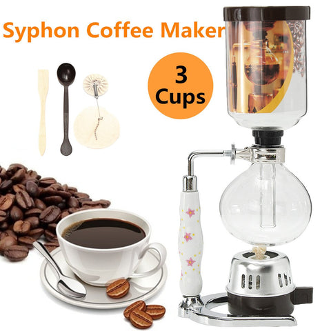 Glass Siphon Coffee Machine Brewer, Coffee Machine, TME Online | TME Online