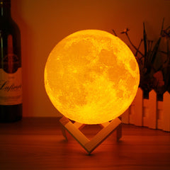 Image of Luna Touch Sensor Moon Lamp Night Light