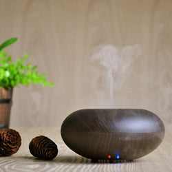 Ultrasonic Wood Grain Air Humidifier Aromatherapy