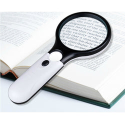 Handheld Reading Magnifying Glass With 3 Super Bright LED