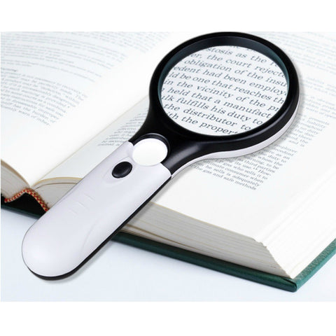 Handheld Reading Magnifying Glass With 3 Super Bright LED, Magnifying Glass, TME Online | TME Online