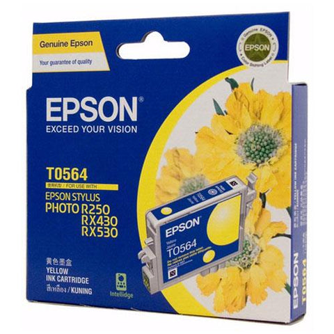 Genuine Epson T0564 Yellow Ink Cartridge, Ink Cartridge, Epson | TME Online