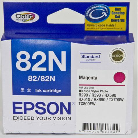 Genuine Epson 82N Magenta Ink Cartridge, Ink Cartridge, Epson | TME Online