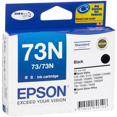 Epson 73N C13T105192 Ultra Black Ink Cartridge, , Epson | TME Online