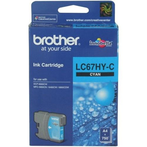 Brother LC67HY-C Cyan Ink Cartridge High Yield, Brother, Ink Cartridge | TME Online