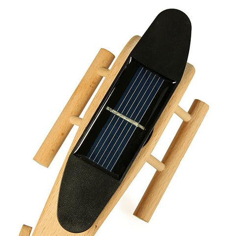 Solar Powered Wooden Helicopter, Wooden Helicopter, TME Online | TME Online