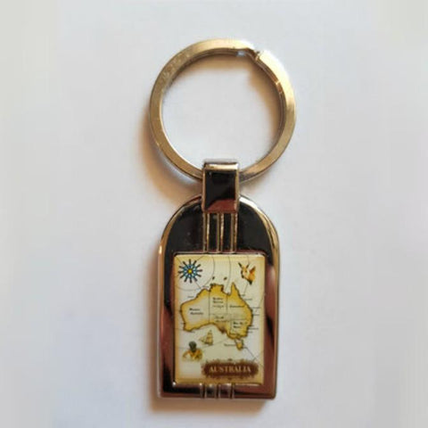 Australian Themed Chrome Metal Keyrings, Keyrings, TME Online | TME Online