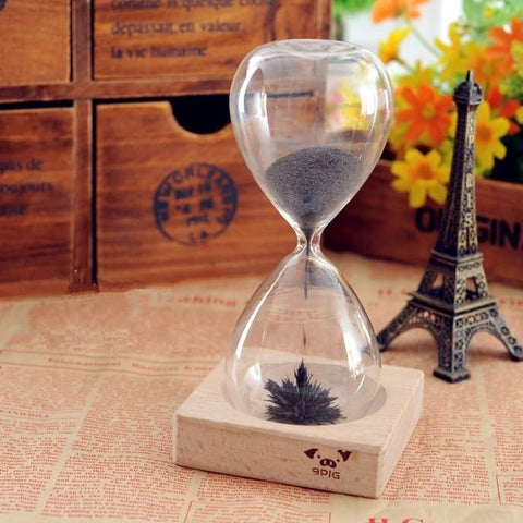 Iron Powder Magnet Hourglass With Wooden Holder, Hourglass, TME Online | TME Online