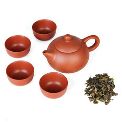 5 Pcs. Yixing Purple Clay Teapot
