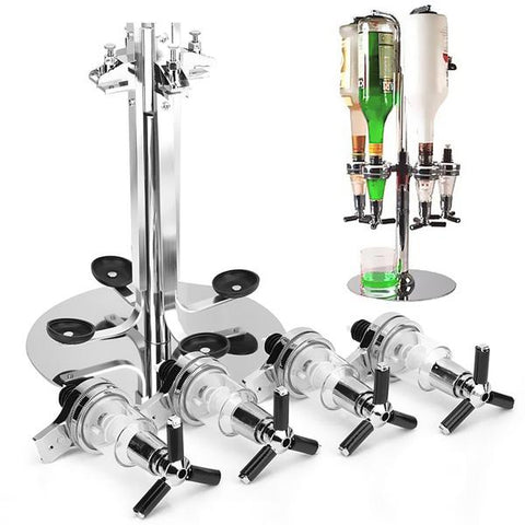 4 Head Stainless Steel Bar Bottle Dispenser Holder, Spirit Dispenser, TME Online | TME Online
